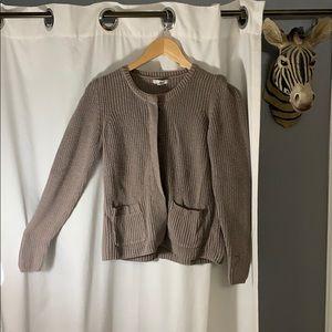 🤎 Gap - Super cozy tan button up sweater (Small)